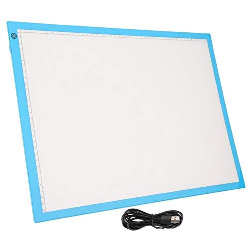 Tablero de luz de seguimiento de tableta gráfica digital de animación Tablero de luz LED de brillo A3 para paniting