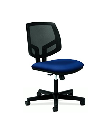 HON Volt Upholstered Task Chair - Mesh Back Computer Chair for Office Desk, Navy (H5713)