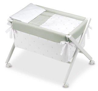 Bimbi Romantic - Vestidura minicuna, color blanco y gris