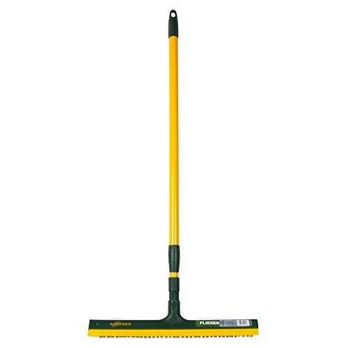 Gardi Rex tegelbezem 42 cm met telescoopsteel | Voegenbezem met rubberen lip voor huis & tuin | ideale straatbezem met extra harde borstelharen