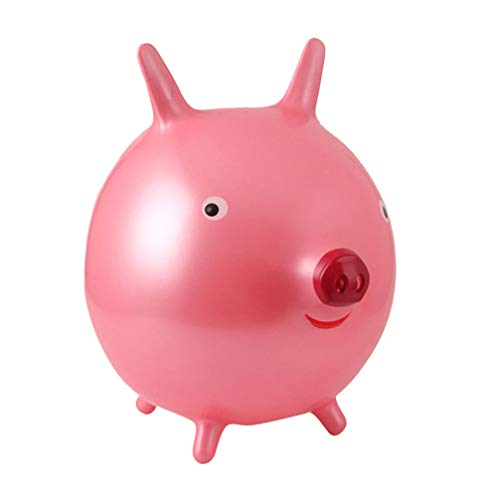 TomaiBaby Kids Pig Hopper Ball Bouncy Ride on Hopping Toys Inflatable Jumping Hopping Ball Hippity Hop Yard Riding Gifts for Toddlers Boys Girls Random Color 45cm