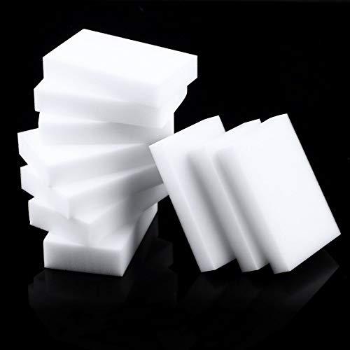 Wenjie 10 Stück magische Schwamm Radiergummi saubere Reinigung multifunktionale Schaumreiniger weiß Küche Bad Haus Universal-Reinigungswerkzeuge - weiß