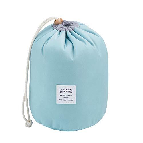 Leisial Trousse à Maquillage Impermeable Grand Capacité en Nylon Trousse de Toilette Portable Sac de Rangement Multifonctionnel pour Femmes(Bleu clair)