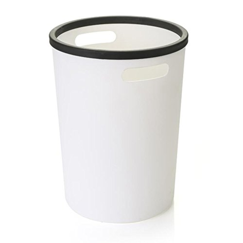 Xuan - worth having Créative Simple Mode Trash Can Pressure Ring Rangement de stockage Cuisine Salon Salle de bain Chambre Trash Can Poubelles