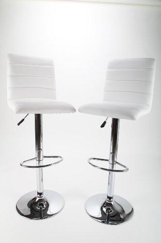 point home Barhocker Barstuhl Designstuhl Barsessel 2 Stück weiß Chrom