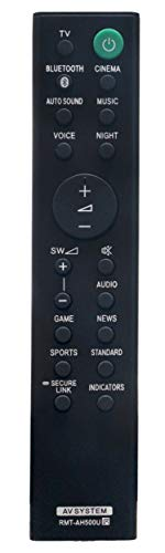 RMT-AH500U Replaced Remote fit for Sony Sound Bar Soundbar HT-S350 HT-SD35 SA-WS350 SA-S350 RMT-AH500J SA-WSD35 SA-SD35 HTS350 HTSD35 SAWS350 SAS350 RMTAH500J SAWSD35 SASD35