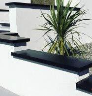 Cubre-cubrepiernas – GAMME 320 XL – Para muret, acero o techo terraza (3000 mm, RAL 9005 Satén), color negro oscuro