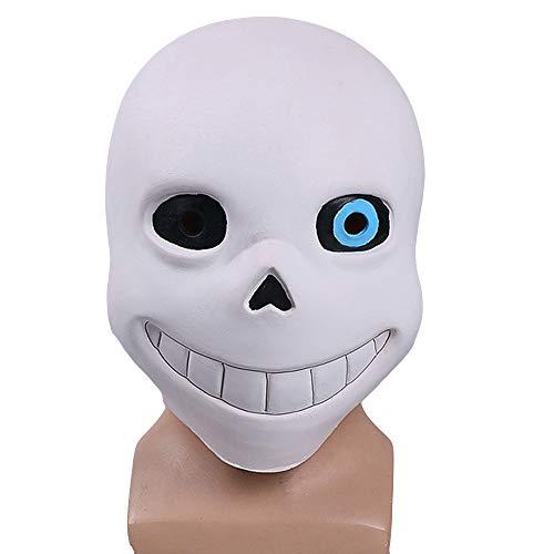 Hope Undertale Sans Papyrus Maske Cosplay Anime Latex Masken für Maskerade Party Kostüm Masked Ball Halloween,B-OneSize