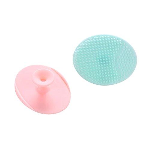 harayaa 2 Limpiador Facial Masajeador Cepillo de Silicona para Acné Suave Exfoliante Facial para Puntos Negros