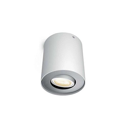 PHILIPS hue Ambiance LED Aufbaustrahler dimmbar | runde Deckenleuchte Spot weiss | inkl. GU10 LED 5,5W 350 Lumen | warmweiß kaltweiß 2200-6500K 4er Set mit Dimmschalter - 2