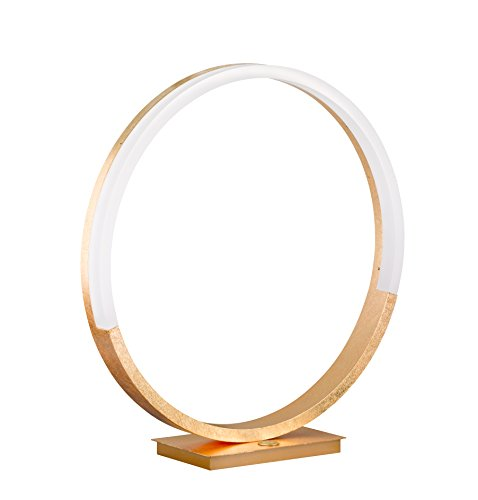Wofi - LED Tischleuchte Soul gold moderne Design Tischlampe Kreis