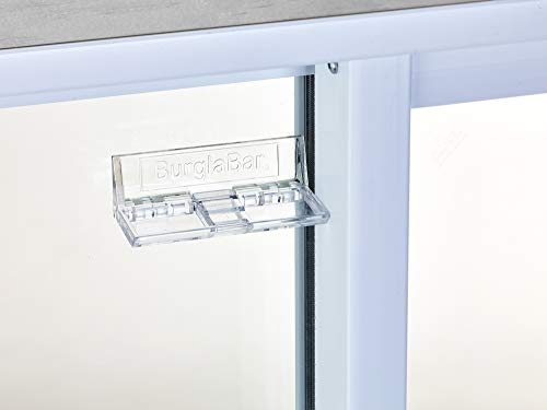 Burglabar 2 Pack - Great for Sliding Patio Door Lock, (Use 2 for doors), Sliding Window Lock, Sliding Basement Windows Lock, Child Safety Lock