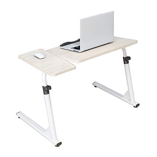 SUWEN Mesa Auxiliar de Sofa,MDF,Altura/ángulo Ajustable,con Tira de fijación Antideslizante,diseño Plegable en Forma de Z,Utilizado en Sala de Estudio,Oficina,estantería,Escritorio,60/80X40CM
