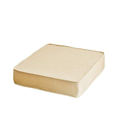 Cojín de asiento con espesas de cuadrado, esponja de espesos Cojines de silla Muebles de patio Almohadillas de asiento de suelo Alimentos para exteriores Padillas de silla al aire libre Beigea 50x50x8