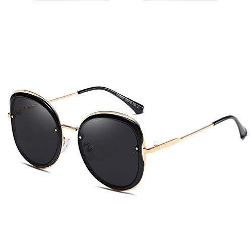 WWDKF Gafas De Sol, Gafas De Sol De Metal Polarizadas TAC De Moda con Montura Grande para Exteriores para Mujer, Gafas Deportivas De Moda para Pescar Y Conducir En Bicicleta,A