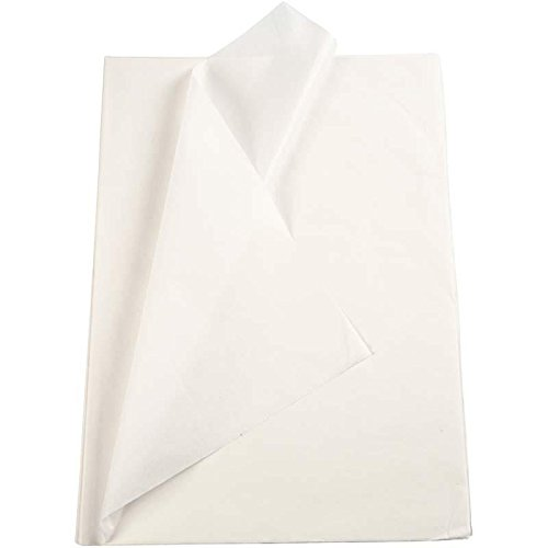 Creavvee® Decoupage Seidenpapier 50x70 cm, Weiss 25 Bögen