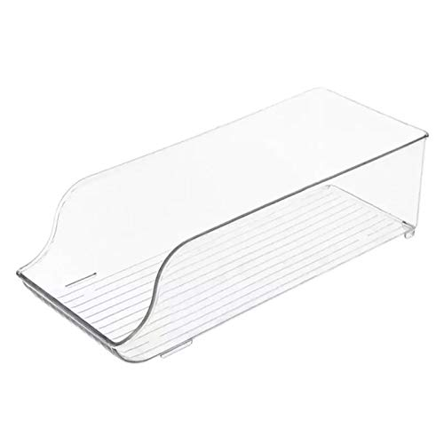 Caja de almacenamiento de alimentos rectangular de plástico para cocina, hogar, caja de almacenamiento de frutas, apilable, gruesa, caja de almacenamiento de frutas 0414 (color claro)