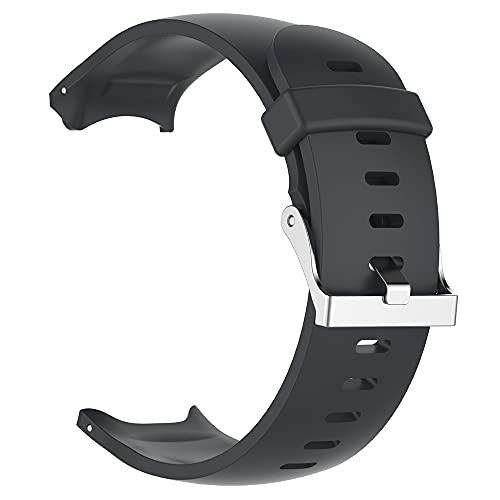 KINOEHOO Correas para relojes Compatible con Garmin Approach S3 GPS Pulseras de repuesto.Correas para relojesde silicona.(negro)