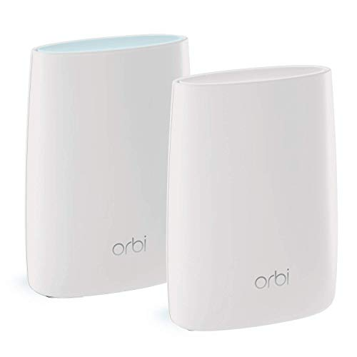 NETGEAR Orbi Ultimate-Performance Whole Home Mesh Wi-Fi System - Wi-Fi Router and Single Satellite Extender with Speeds Up-to 3 Gbps Over 4000 sq ft, AC3000 (RBK50)