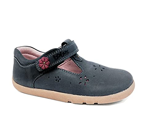 Bobux I-Walk Delicate Dandelion Cerise T-Bar Shoes - Caminantes - Merceditas de bebé Bobux de Piel (Deep Navy, 23)