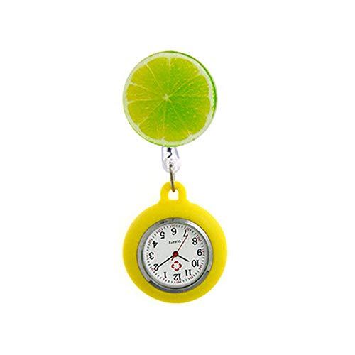 Reloj de Bolsillo para Colgar, Broche, Llavero de Enfermera para niña, para Mujer - Cute Angel Cartoon Nurse Watch-18 años