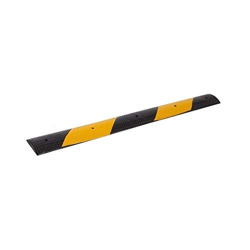 Hoge kwaliteit Rubber Snelheid Bump, School Land Weg 2CM Miniatuur Snelheid Bump Zwart en Geel Reflecterende Damping Veiligheid Ramps Praktisch 100 * 10 * 2CM