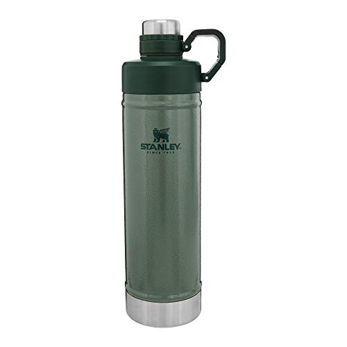 Stanley Classic Easy-Clean Water Bottle 36oz with Never Lose Hinged Leak Proof Lid, Stainless Steel Thermos for Cold Beverages, Wide Mouth Insulated Thermos,