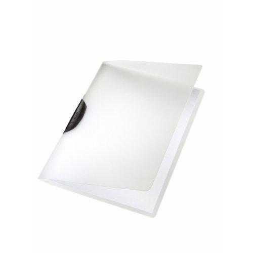 LEITZ 41750195 - Dossiers CLASSIC PP rígido clip plástico DIN A4 capacidad 30 hojas color clip negro