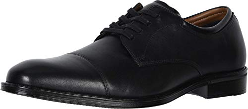 Dockers Mens Pierdon Leather Dress Cap Toe Oxford Shoe, Black, 10 M