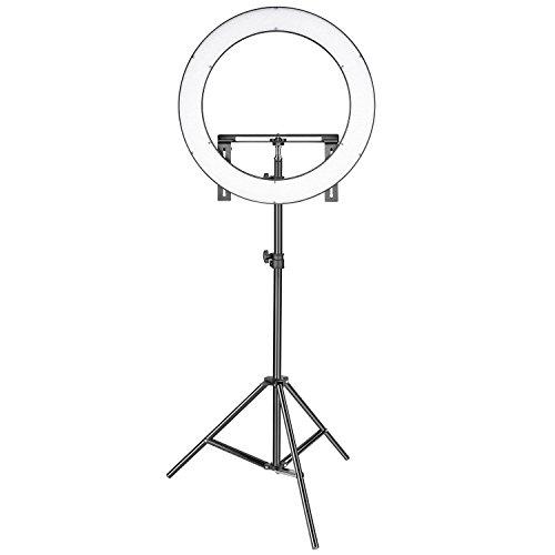 Neewer Set de iluminación para Estudio fotográfico (LED, 19 Pulgadas, para Interior 3200-5600 K, CRI 96+, Regulable, Bicolor, SMD, LED, con Soporte, 2 m, para Retrato de vídeo y fotografía)