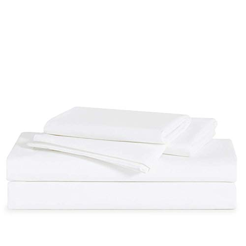 Brooklinen Solid White Luxe Core Sheet Set for Twin Size Bed...