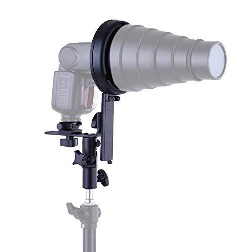 PKA L-Winkel-Blitzgerät Speedlite Blitzschuh Mit Bowens Mount Adapter Cold Shoe Für Softbox Reflektor Beauty Dish Honeycomb Regenschirm Snoot