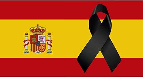 Oedim Bandera de España con Crespón   Medidas 85x150 cm   Textil Bandera de España con Crespón   Bandera con 4 Ojales Metálicos   Resistente al Agua