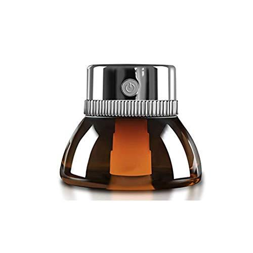 GZQDX Luchtbevochtiger, luchtbevochtiger, etherische oliediffuser, lens, nachtlampje, luchtreiniger, luchtverfrisser, auto odorizer olie, aromatherapie diffuser, zilver