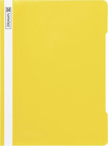 Brunnen 102010910 Schnellhefter (A4, aus PP, glasklares Deckblatt) gelb