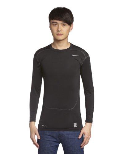 Nike Pro Combat Core 2.0 Maillot de Compression à Manches Longues Homme, Black/Cool Grey, FR (Taille Fabricant : XL)