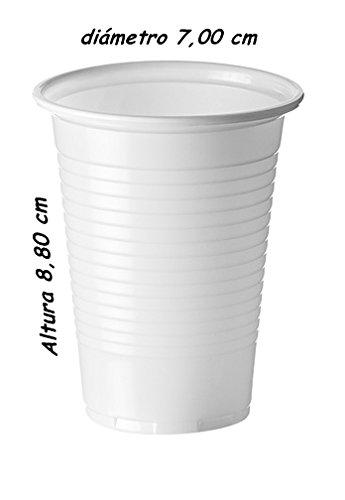 Sumicel Vaso plástico de Polipropileno en Color Blanco, 160 ml ...
