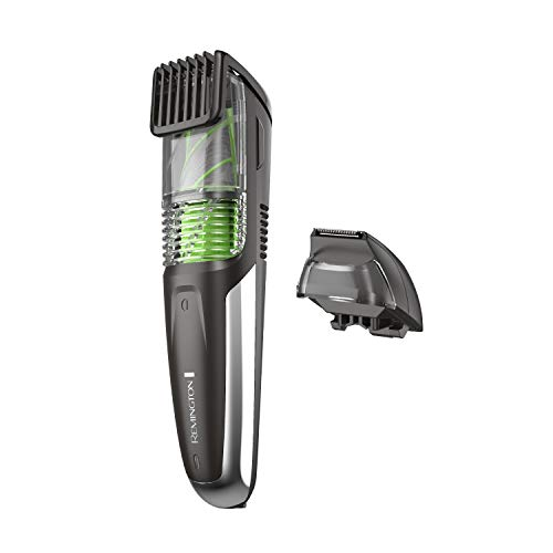 Remington MB6850 Vacuum Stubble and Beard Trimmer, Lithium Power and Adjustable Length Comb with 11 Length Settings (2-18mm)
