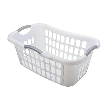 Starplast Hip Hugger Laundry Basket (2 Pack), White
