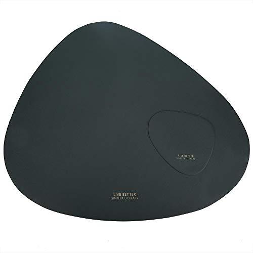 Tafelloper Nordic leer, driehoekig, warmte-isolerend, antislip, hittebestendig, waterdicht, zwart, wit, groen, bruin