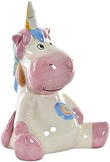 Hucha Unicornio Infantil con Acabado Perla. Ideal para niños,Diseño Original/Divertido 20X14X26 cm.-Hogarymas-