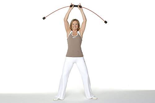 FLEXI-BAR® Standard, Rot, hochbelastbarer Schwingstab von Flexi-Sports mit Einführungs-DVD und Trainingsplan, Schwungstab, Schwingstick