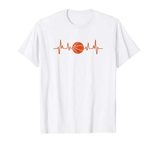 basketball shirts Basketball Heartbeat T-Shirt Sport Funny Basketball Shirts