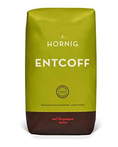 J. Hornig Kaffeebohnen Entkoffeiniert, Entcoff, 500g, mildes und reichhaltiges Aroma, für Vollautomaten, Filterkaffeemaschine und Espressokocher, ganze Bohnen