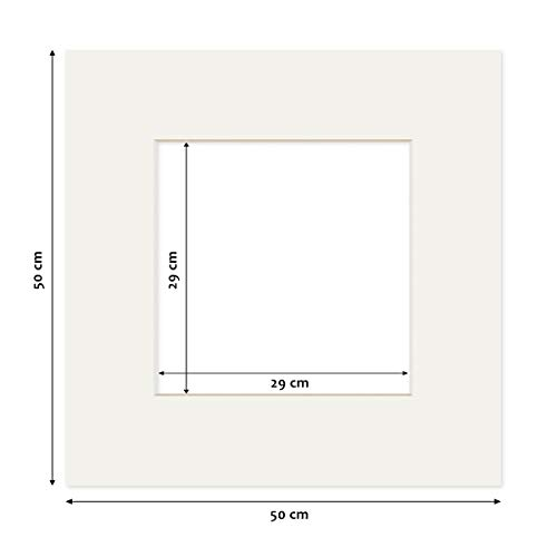 PHOTOLINI Passepartout Weiß 50x50 cm (30x30 cm)