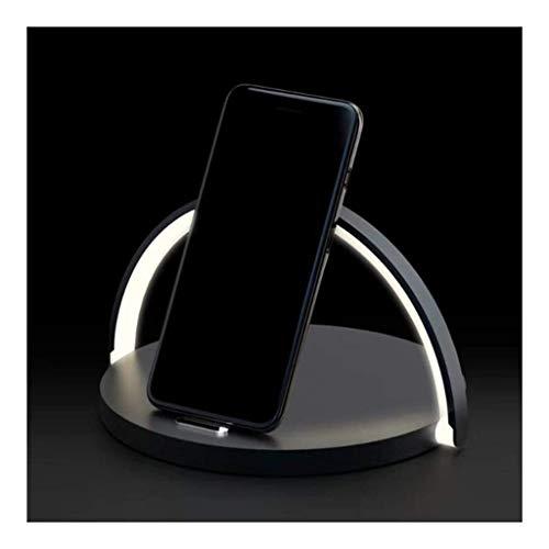 BTPDIAN trådlös skrivbordslampa, LED-smart bordslampa, multifunktionell skrivbordslampa, skrivbordslampa för Indoor LED dekor med Qi trådlös mobilladdare för iPhone 8 X XS Max XR 10 W snabb