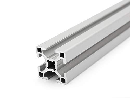 Aluminiumprofil 30x30 B-Typ Nut 8 - Zuschnitt 50mm-2000mm (8,00 EUR/m + 0,25 EUR pro Schnitt, min. 2,50 EUR) 2000mm