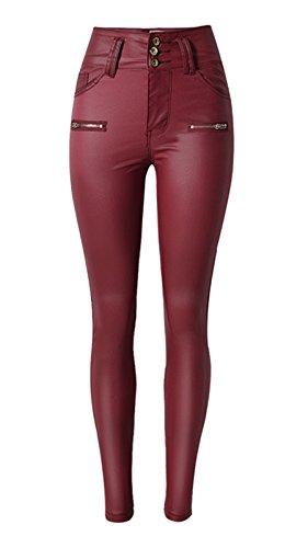 Ecupper Pantalones de Cuero para Mujer, Plus Tamaños y pequeño tamaño, Leggings de Cintura Alta, Cadera Empuja hacia Arriba