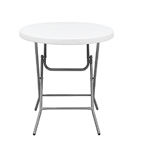 XIAOJU Mesa portátil para Interiores y Exteriores - Escritorio pequeño Plegable - Ligero - Mesa de jardín Plegable para Camping, Picnic de Fiesta,Round Table