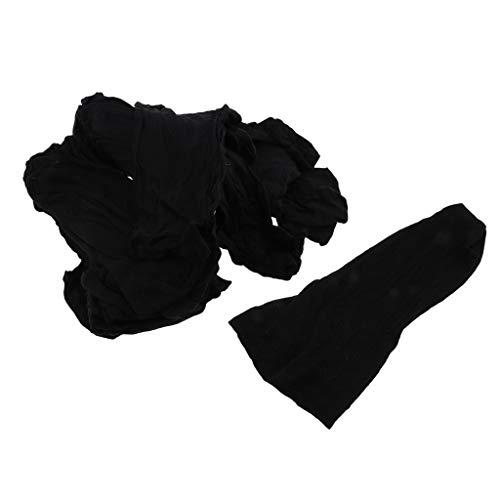 IPOTCH 100pièces Bonnet Perruque Cheveux Tissage Bouchon Maille élastique Filet Faisant Perruques Couleur Noire